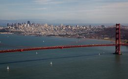 Golden Gate and San Francisco Royalty Free Stock Image