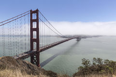 Golden Gate San Francisco Bay Fog Royalty Free Stock Photography