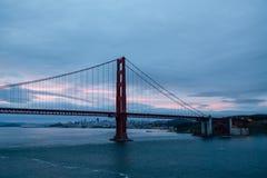 Golden Gate and San Francisco at Dawn Stock Photos