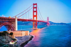 Golden Gate San Francisco, Kalifornien, USA. arkivfoton