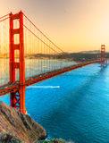 Golden Gate, San Francisco, la Californie, Etats-Unis Images libres de droits