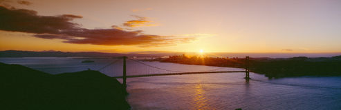 Golden Gate & San Francisco from Marin Headlands, Sunset, California Stock Photography