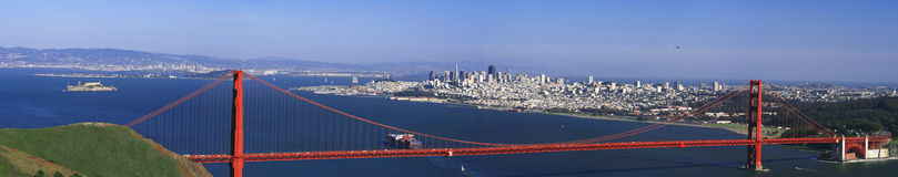 Golden Gate San Francisco Panorama Stock Images