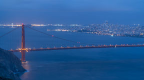 Golden Gate San Fransisco noc obrazy stock