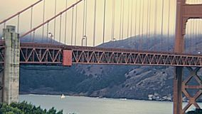 Golden Gate-Skyline stock video footage