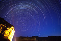 Golden Gate Startrails Stock Photography