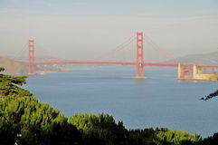 Golden Gate Strait and bridge Royalty Free Stock Image