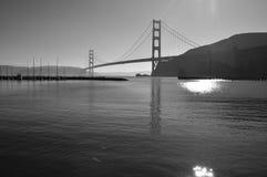 Golden Gate Strait and bridge(B&W) Stock Images