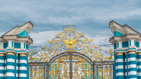 The Golden Gate timelapse. Pushkin Tsarskoye Selo. The Golden Gate timelapse. Pushkin (Tsarskoye Selo) - is one of St. Petersburg's numerous Imperial estates stock footage