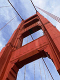 Golden Gate Tower. The southern tower of the Golden Gate Bridge Stock Photos