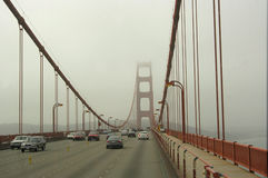 Golden Gate traffic stock photo