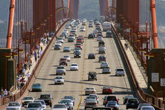 Golden Gate Bridge Traffic  Royalty Free Stock Image