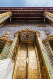Golden gate. The ubosot (ordination hall) housing the Emerald Buddha is actually the only original building in the Wat Phra Kaew Royalty Free Stock Photos