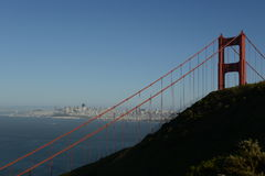 Golden Gate und erstaunliche Ansichten der Stadt Stockbild
