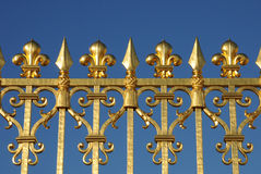 Golden gate of Versailles palace Royalty Free Stock Photos
