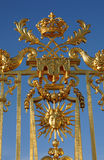 Golden gate of Versailles palace Stock Images