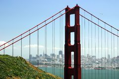 Golden Gate View Royalty Free Stock Images