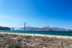 Golden Gate View from Crissy Field Stock Photos