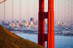 Golden Gate View At Dusk Royalty Free Stock Image