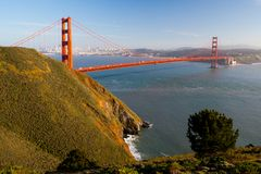 Golden Gate View from Marin Headlands Royalty Free Stock Images