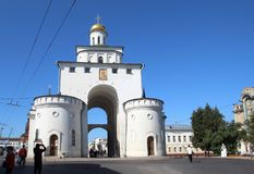 The Golden Gate of Vladimir town, Russia royalty free stock photo