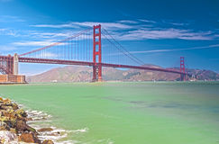 The Golden Gate World Famous Bridge in San-Francisco City, California Stock Images
