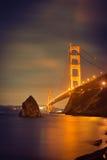 Golden- Gateglühen Lizenzfreies Stockfoto