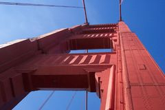 Golden- Gatekontrollturm Lizenzfreies Stockfoto