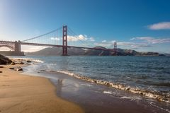 Golden Gatepanorama lizenzfreies stockfoto