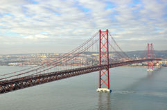 Golden gates bridge in Lisbon Stock Image