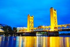 Golden Gates drawbridge in Sacramento Stock Image
