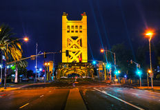 Golden Gates drawbridge in Sacramento Stock Photos