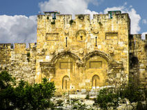 Golden gates of Jerusalem Royalty Free Stock Photos