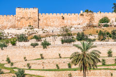 Golden gates of Jerusalem Stock Photo