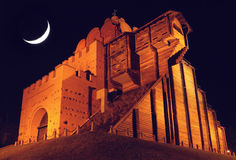 Golden gates at night Royalty Free Stock Photography