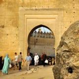 Golden Gates to old town of Fez Stock Photos