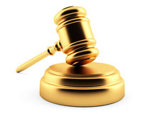 Golden gavel Royalty Free Stock Photo