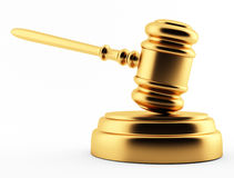 Golden gavel Stock Images
