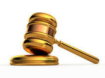 Golden Gavel  Royalty Free Stock Image