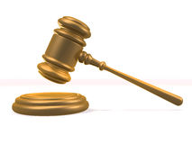 Golden gavel Royalty Free Stock Photography