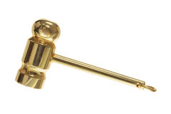 Golden Gavel Charm Royalty Free Stock Photos