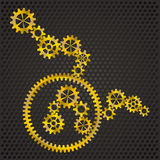 Golden gear Royalty Free Stock Photography