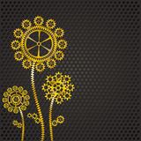 Golden gear flowers Royalty Free Stock Photography