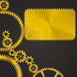 Golden gear frame Royalty Free Stock Image