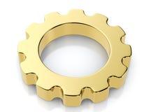 Golden gear symbol Stock Image