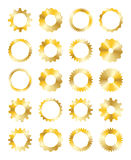 Golden Gear. A Golden Gear on a white background Royalty Free Stock Images