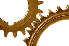 Golden gears 1 Royalty Free Stock Photo