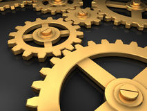 Golden Gears Royalty Free Stock Photography