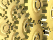 Golden gears stock illustration
