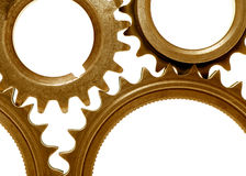 Golden gears 3 Royalty Free Stock Image